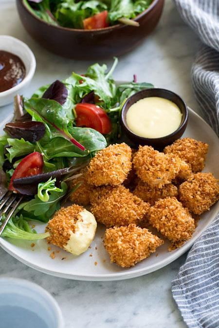 ناگت مرغ در فر خوشمزهتر از رستوران